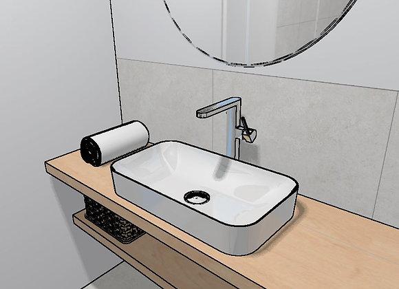 3D Planung Gäste WC