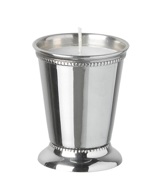 Wax filled Stainless Steel Votive with Trim