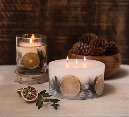 STONEGLOWS Eucalyptus & Lime 3 Wick Candle