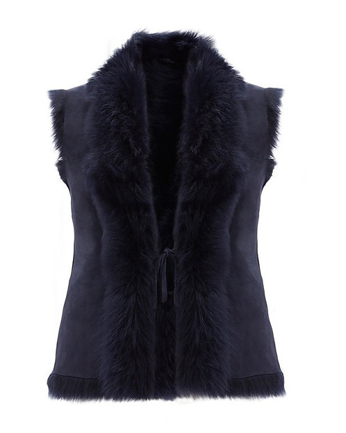 Classic Reversible Toscana Gilet - Navy S/M