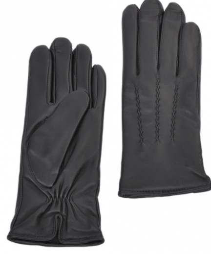 Ladies Soft Leather Gloves - Black - Large