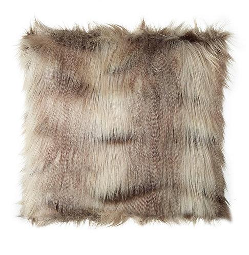 Hyena Cushion Cover - Brown Faux Fur