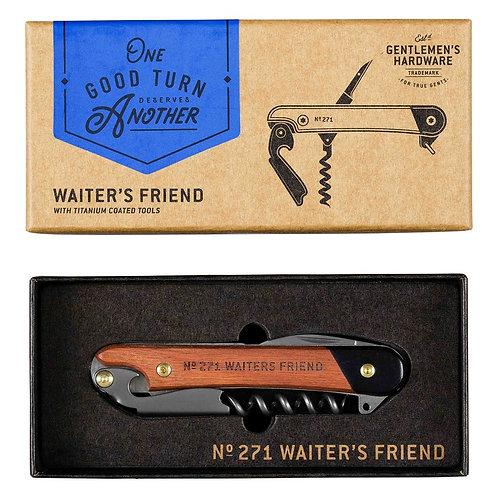 Waiters Friend Wooden Handles & Titanium Coated Tools
