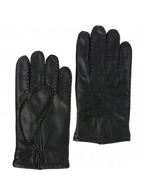 Mens Soft Leather Gloves -Black Large