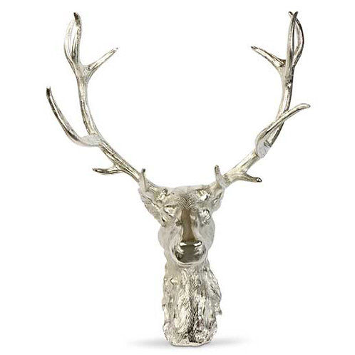Wall Mounted Stag Head with Antlers