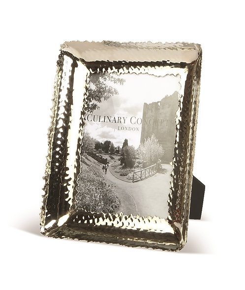"Medium Champagne Hammered Photo Frame 5""x7"""