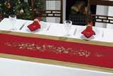Embellished Holly Berry Runner - Red