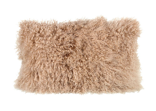 Tibetan Pure Wool Cushion - Light Brown