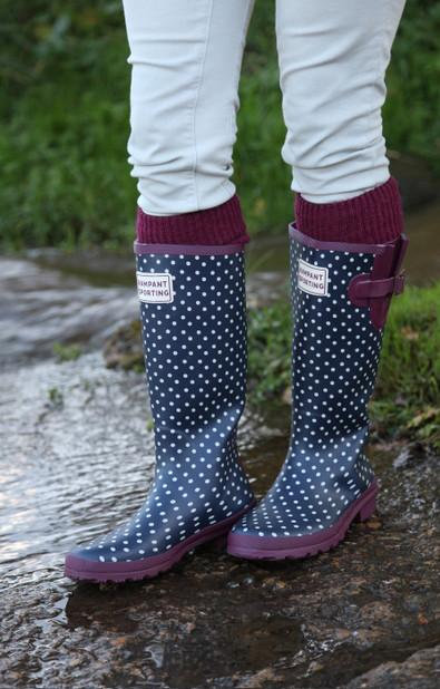 Wellington Boot Socks ( Mulberry) - Small (5-7)