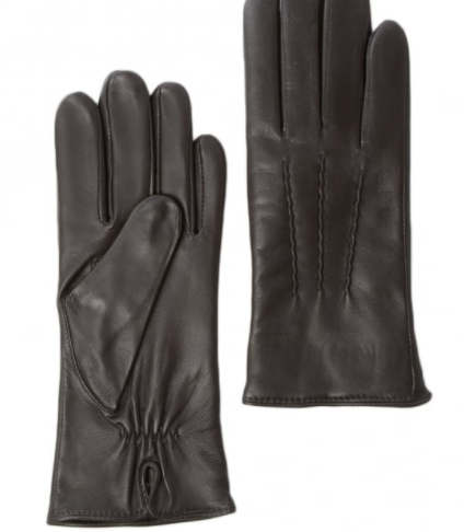 Ladies Soft Leather Gloves - Brown - Medium