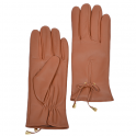 Ladies Soft Leather Gloves -Tan Large