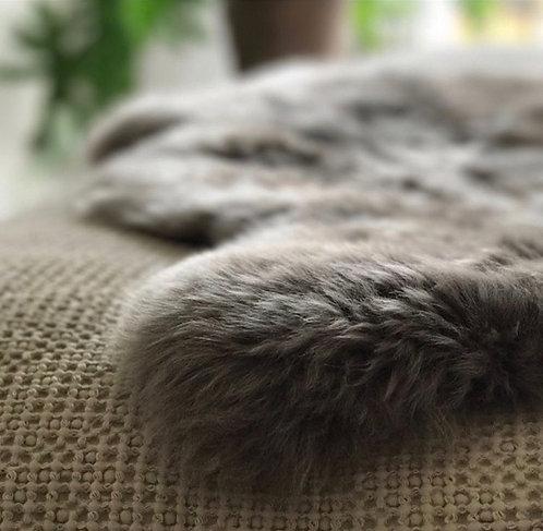 'The Linn' Long Haired Sheepskin Rug - Mushroom (Grey Tones)