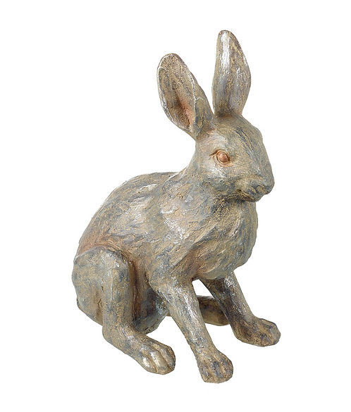 Small Stone Effect Hare Sculpture - Resin