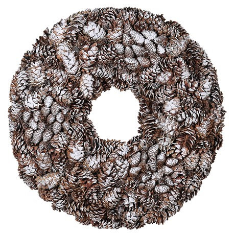 Large Frosted Pinecone Wreath