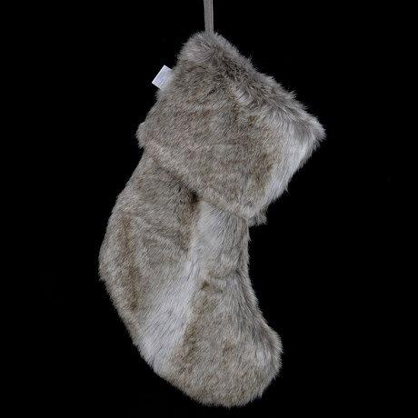 Faux Fur Christmas Stocking