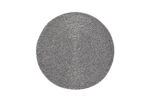 Circular Beaded Coasters - Anthracite set of 4