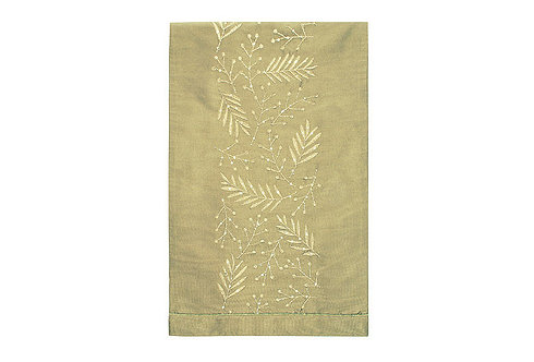 Winter Berries Table Runner - Gold