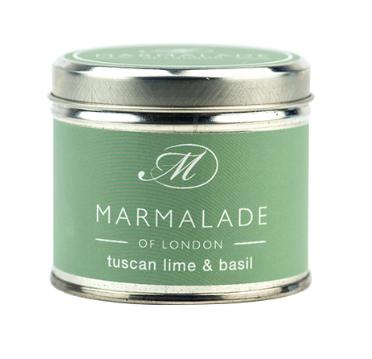Tuscan Lime & Basil Medium Tin Candle