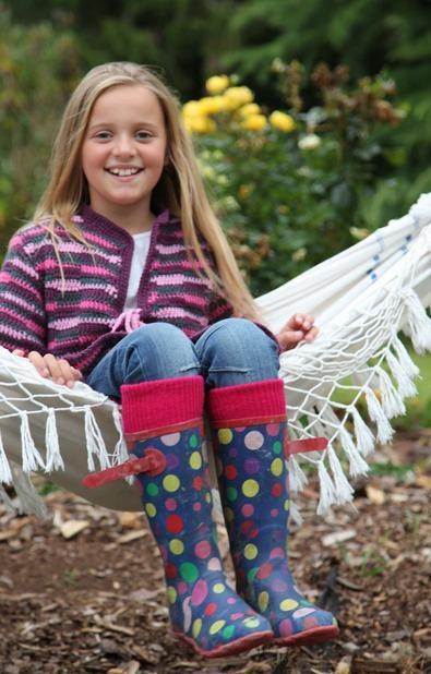 Children's Wellington Boot Socks (Sedge Green ) - One Size (12.5 -3.5)