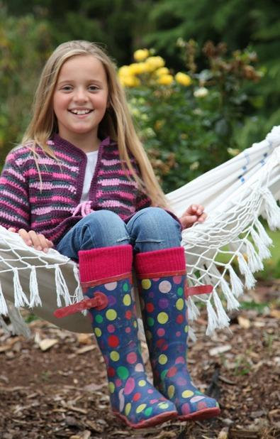 Children's Wellington Boot Socks (Raspberry ) - One Size (12.5 -3.5)