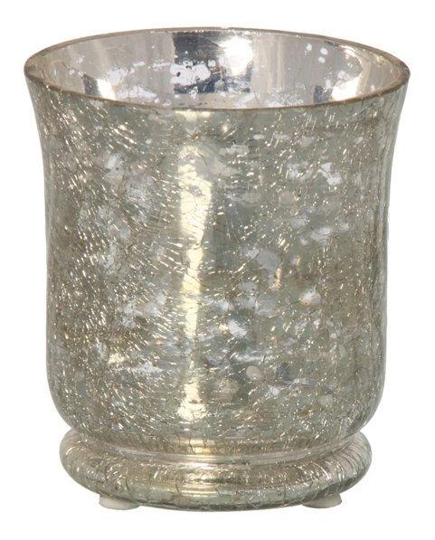 Crackle Mirror Votive/Vase