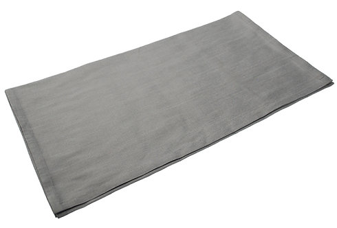 Dupion Petticoat Table Runner -Silver