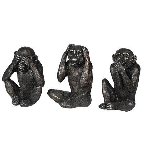 Set of 3 'No Evil' Monkeys