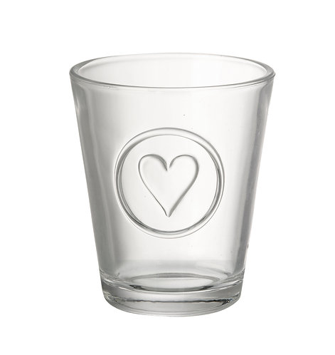 Heart Tumbler - Clear Glass