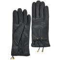 Ladies Soft Leather Gloves - Black Medium