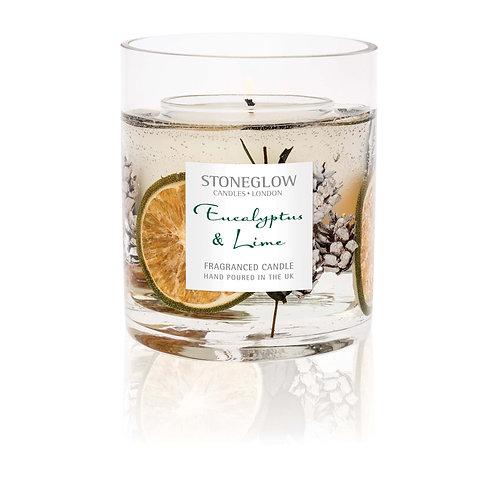 STONEGLOWS Eucalyptus & Lime Natural Wax Vase