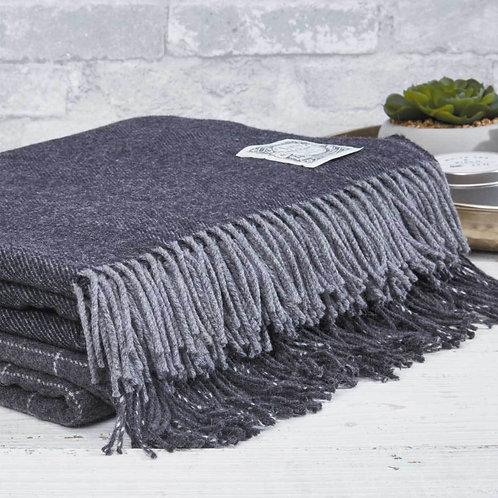 Fine Merino Blanket 'Charcoal'