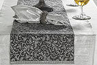 Winter Palace Table Runner - Anthracite