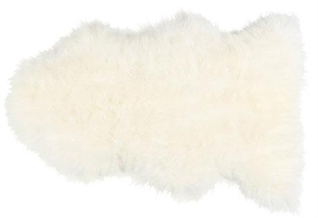 'The Linn' Long Haired Sheepskin Rug - Natural White
