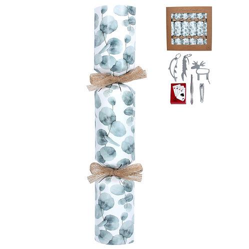 Box of Six Eucalyptus Design Crackers - Plastic Free