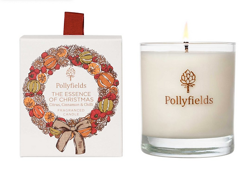 Pollyfields Essence of Christmas Glass Candle