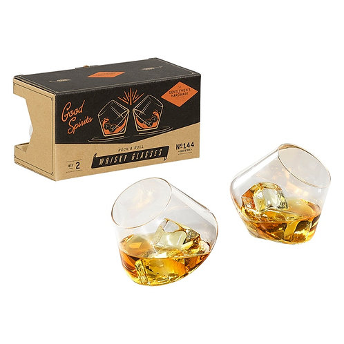 Rocking Whisky Glasses - Set of 2