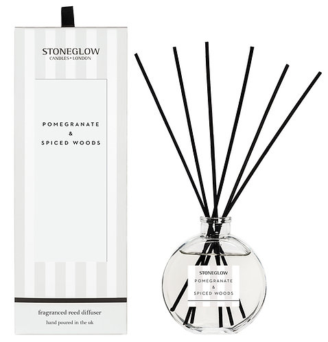 Pomegrante & Spiced Woods Diffuser by Stoneglow