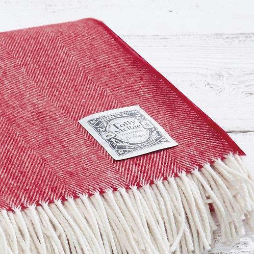 Fine Merino Blanket 'Nordic Red'
