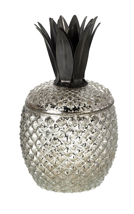 Glass Pineapple Jar Ornament/Votive