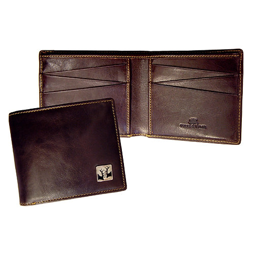 TYLER & TYLER DARK TAN/ BROWN LEATHER BILLFOLD WALLET – RUT