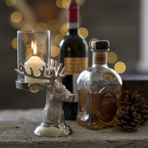 Small Stag Head Candle (tea light) Holder