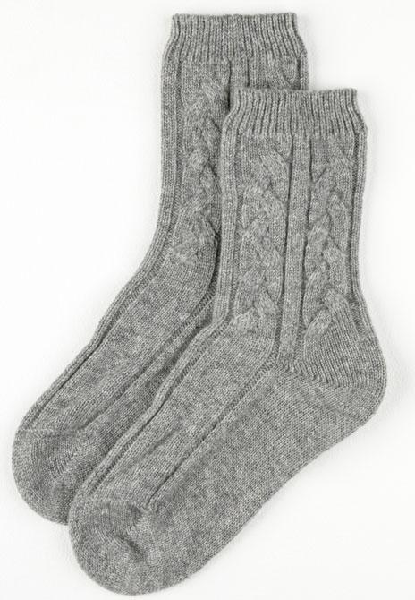 Cashmere Socks - Grey