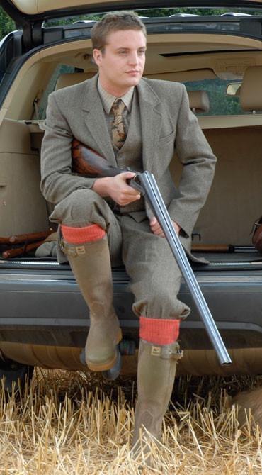 Alpaca Shooting Socks - Burnt Orange Large (10-12)
