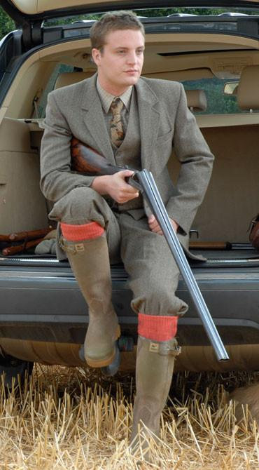 Alpaca Shooting Socks - Sedge Green Medium (8-10)