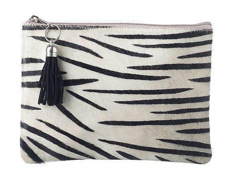 Zebra Print Bag - Genuine Goat Hide