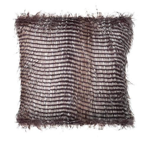 Falcon Cushion Cover - Faux Fur Black /White