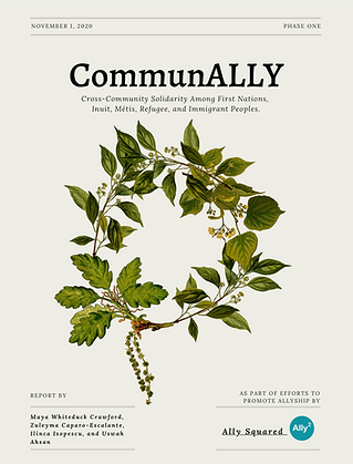 Cover of ComunALLY's phase one report