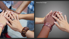 Triple Negative - Ad - Work: Retouching, photo compositing, silhouetting, CMYK retouching on skin and tone conversion, color correction.