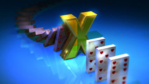 3D Domino Blocking Effect - Comp Art - Work: 3D modeling/texturing, lighting, rendering (Maya and Mental Ray), color correction, color grading and conversions.