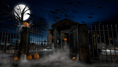 Happy Halloween 2 - Promo Art - Work: Design, 3D modeling/texturing painting, lighting, rendering (Maya and VRay), color correction, color grading and conversions.